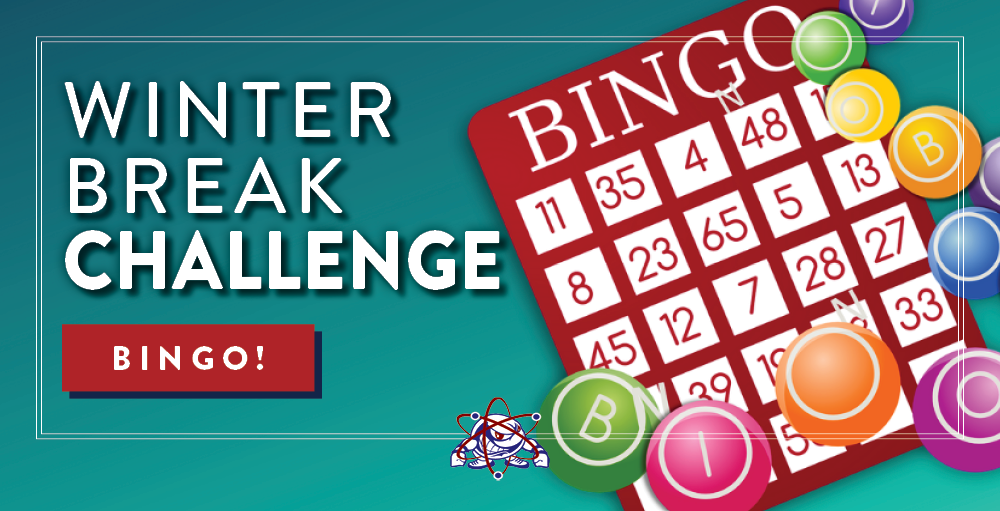 Syracuse Academy of Science and Citizenship invites its students and their families to participate in a game of BINGO for a Winter Break Challenge.