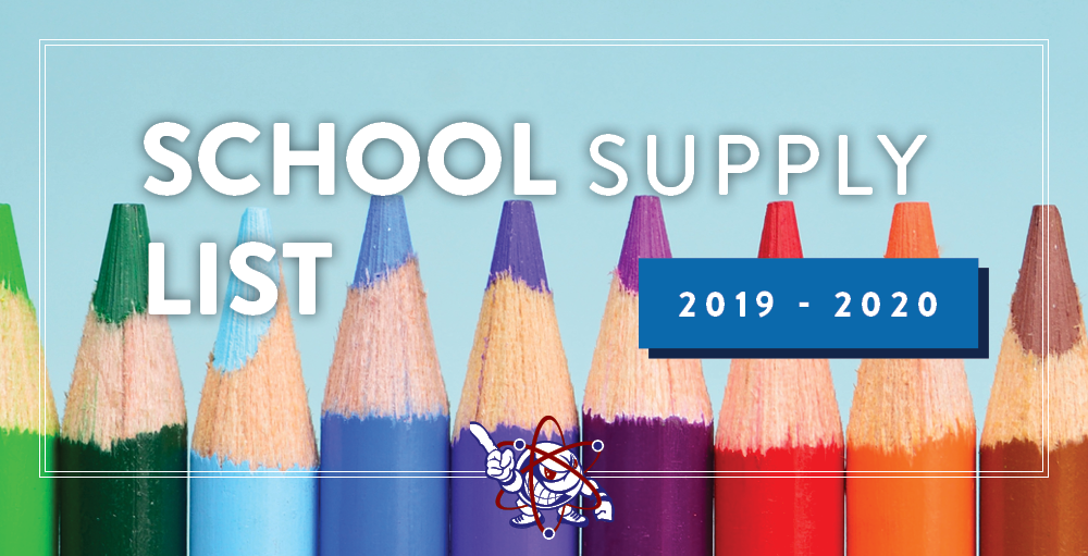 The 2019 - 2020 School Supply Lists are now live on the website. Click the Supply List section to view your students complete list today.